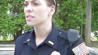 Amateur big black cock violator tag team fucked by two kinky police woman thumb