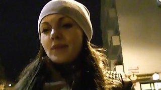 Fake agent bangs_brunette in public for money thumb