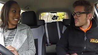 Fake driving_instructor bangs ebony babe thumb