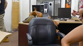 Cowgirl anal railed by_nasty pawn dude in his office thumb