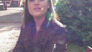 Fake agent bangs_cute student outdoor thumb