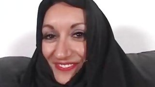 Nasty Mouth Iranian Paki Aunty gets first Short Anglo Dick thumb