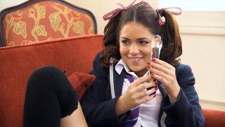 Horny lesbians fucking in school uniform thumb