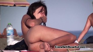 Amazing MILFs with nice curves filmed on the nudist beach thumb