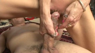 Slutty blond milf Crystal White gets her pussy eaten and pounded in the dorm thumb