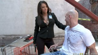 Lustful security officer Jenna_Presley giving blowjob to a stranger thumb