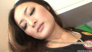 Beautiful japanese whore Risa Murakami stripping_on a cam and showing off her sexy body thumb