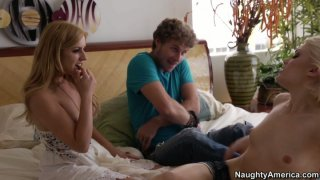 Ash Hollywood and her boyfriend decide to have their first threesome with Lexi Belle thumb