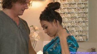 Mature American man spends nice time with sexy Asian Ariel B thumb