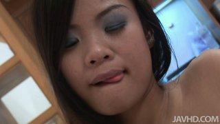 Hussy Japanese girl Pai gives pov blowjob thumb