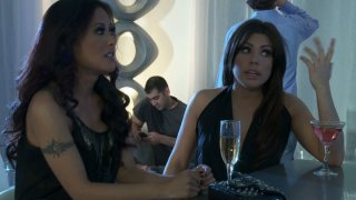 Ugly redhead asian hoe April Oneil having fun with guys thumb