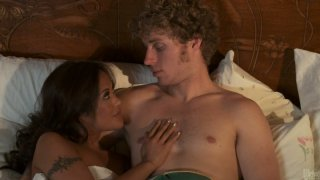 Sweaty whore Kaylani Lei gets hammered hard in a missionary position thumb