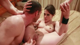 Slim and kinky chick Nikita Bellucci gives a blowjob and gets poked mish thumb