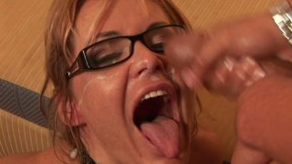 Ugly aunty Kelly Leigh_gets poked hard in a missionary position and later hammered doggy style thumb