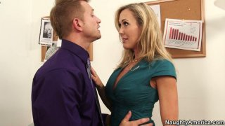 Office babe Brandi Love fucks her manager to keep her job thumb