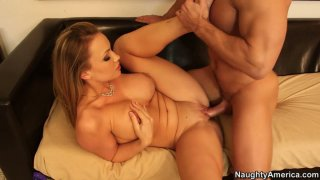Buxom blond head Maya Hills rides a cock fast and toughly thumb