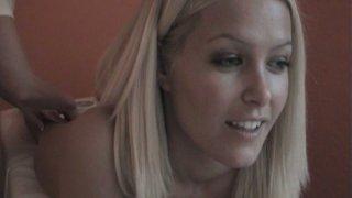 Cute blond head Sophie Moone enjoys the great erotic massage thumb