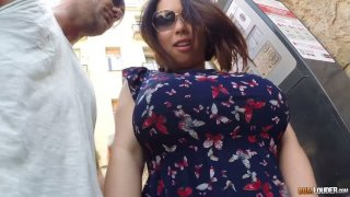 Asian hooker Tigerr Benson gives a blowjob in public and gets anus fucked indoor thumb