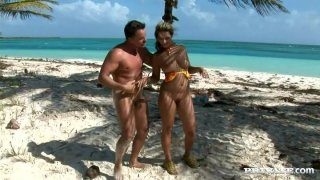 Busted bitch Daria Glower_gets anal fuck on the beach thumb