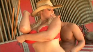 Gorgeous cowgirl Abbey Brooks gives head and rides dick thumb