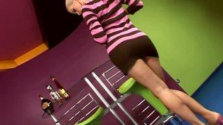 Blonde princess Sophie Moone shows her fantastic body thumb