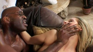 Skinny blonde babe Liz Honey gets her asshole gaped by black man thumb