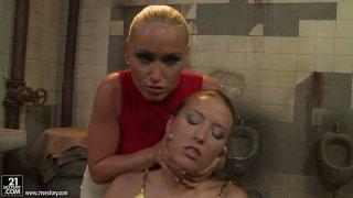Angry Kathia Nobili wanna please a weird horny Bianca Arden thumb