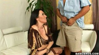 Hot brunette mommy Ava Allure gives_her husband a blowjob thumb