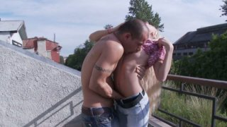 Steamy quickie outdoors with frisky_blonde Leenda thumb
