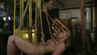 Kinky Kathia Nobili and Mandy_Bright are acting dirty in a BDSM video thumb