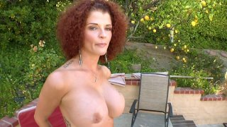 Curly slut Joslyn James astonish a guy with her sexy body and gives him a head thumb