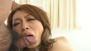 Double pussy creampie for delectable Asian seductress Nozomi Uehara thumb