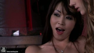 Backstage video with Tina Blade in threesome shows how professional POV vids are made thumb