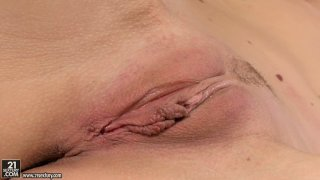 Voluptuous Sophie Moone sucks_a dildo like a real cock and tickle fancy thumb