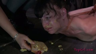 Slutty whore Elise Graves eats shit in BDSM sex video thumb