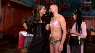 Perverted Mistress Ties And Tapes Up Serf In Bdsm Fetish thumb