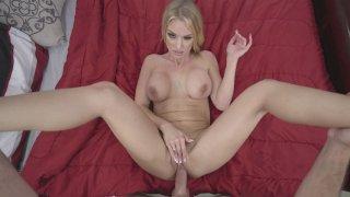 Busty MILF Rachael Cavalli gets her pussy railed in POV thumb