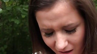 Fake agent bangs naive babe_in_his car in public thumb