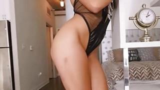Beautiful brunette big butt Abella Danger anal fucks thumb