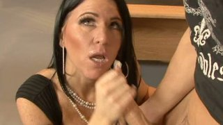 Geography teacher Kendra Secrets gives great blowjob thumb