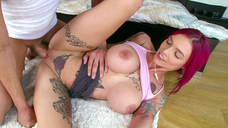 Monster boobed Anna Bell Peaks gets her dick fix thumb