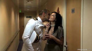 Slutty brunette Angell Summers seducing a captain thumb