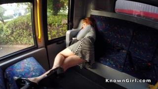 Hirsute redhead_amateur teen banging in the bus thumb