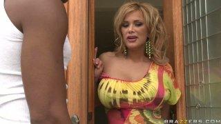 Busty blonde milf Shyla Stylez wants to try big gangsta cock thumb