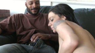 Hot interracial sex scene with petite brunette Vanessa Naughty thumb