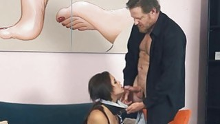 He gagged and clipped Blair's pussy lips and destroyed her pussy thumb