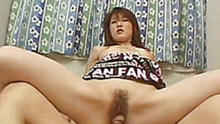 Hairy Asian amateur girlfriend fucks with facial thumb