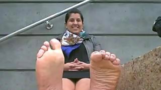 Indian Girl Shows Off Her Feet thumb