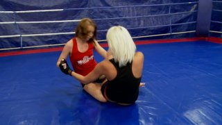 Severe wrestler Vanessa_Videl gonna kick the whore's ass_in the ring thumb
