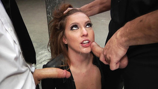 Maddy O'Reilly is_made to suck two giant schlongs thumb
